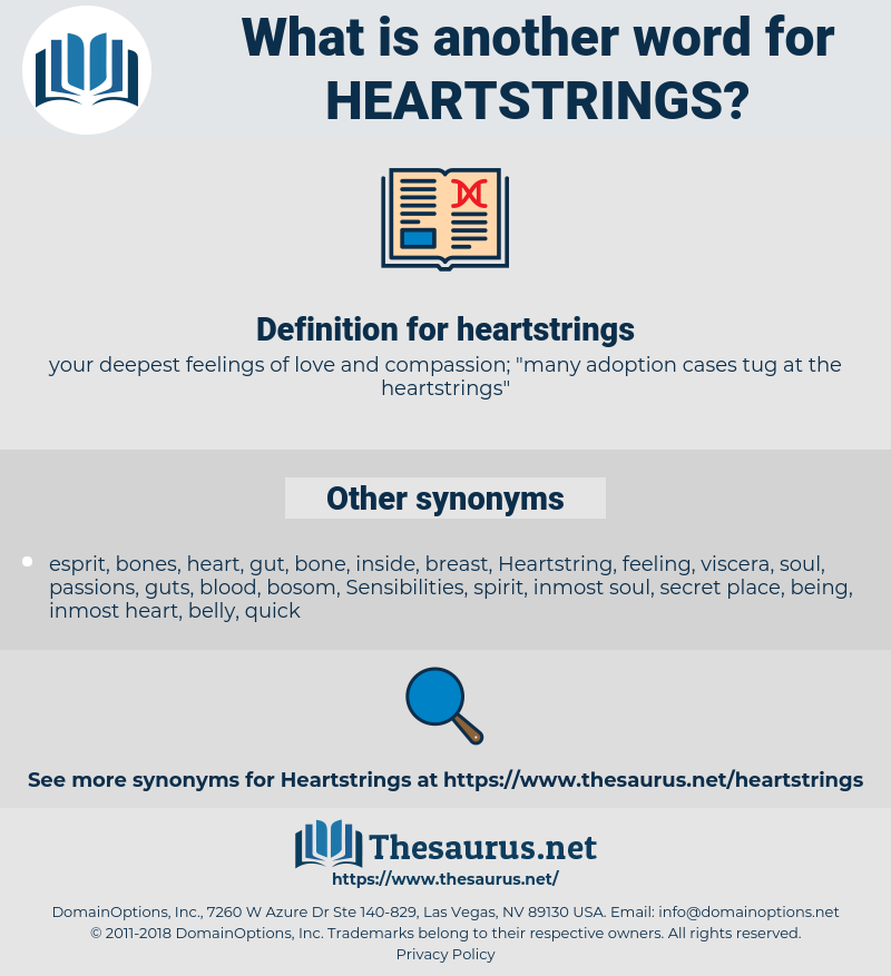 Synonyms for HEARTSTRINGS - Thesaurus net