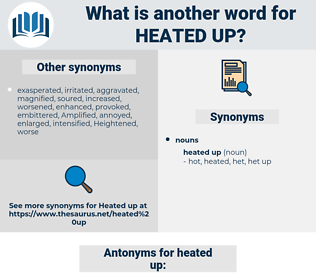 heated up, synonym heated up, another word for heated up, words like heated up, thesaurus heated up