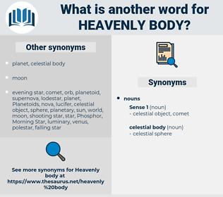 heavenly body, synonym heavenly body, another word for heavenly body, words like heavenly body, thesaurus heavenly body