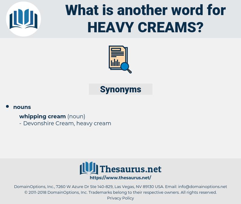 heavy creams, synonym heavy creams, another word for heavy creams, words like heavy creams, thesaurus heavy creams