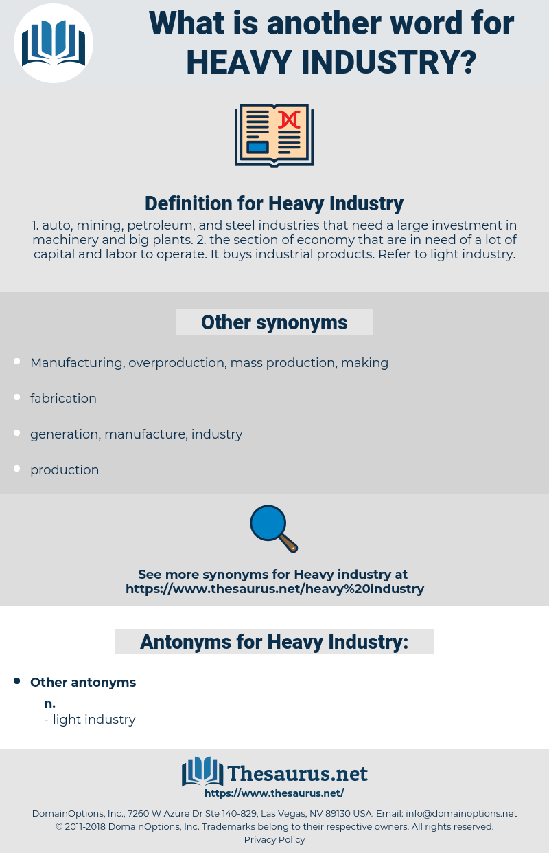 Heavy Industry, synonym Heavy Industry, another word for Heavy Industry, words like Heavy Industry, thesaurus Heavy Industry