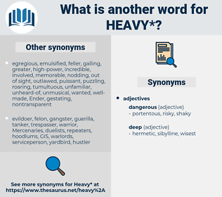 heavy, synonym heavy, another word for heavy, words like heavy, thesaurus heavy