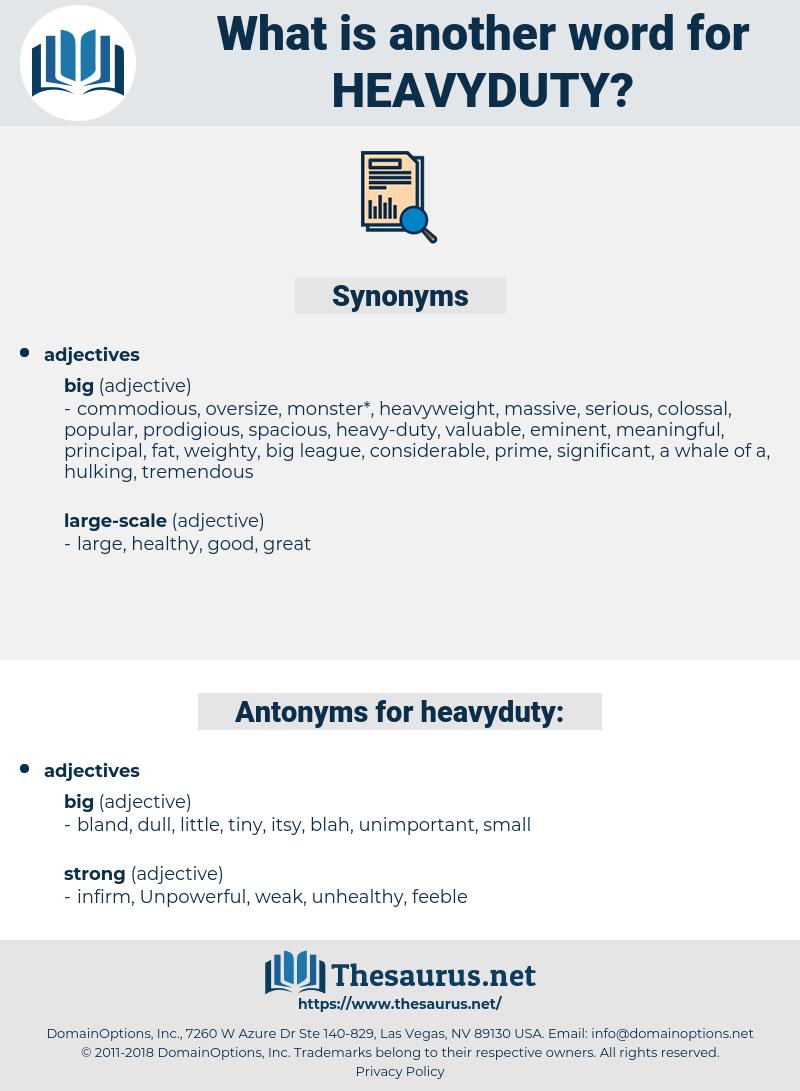 heavyduty, synonym heavyduty, another word for heavyduty, words like heavyduty, thesaurus heavyduty