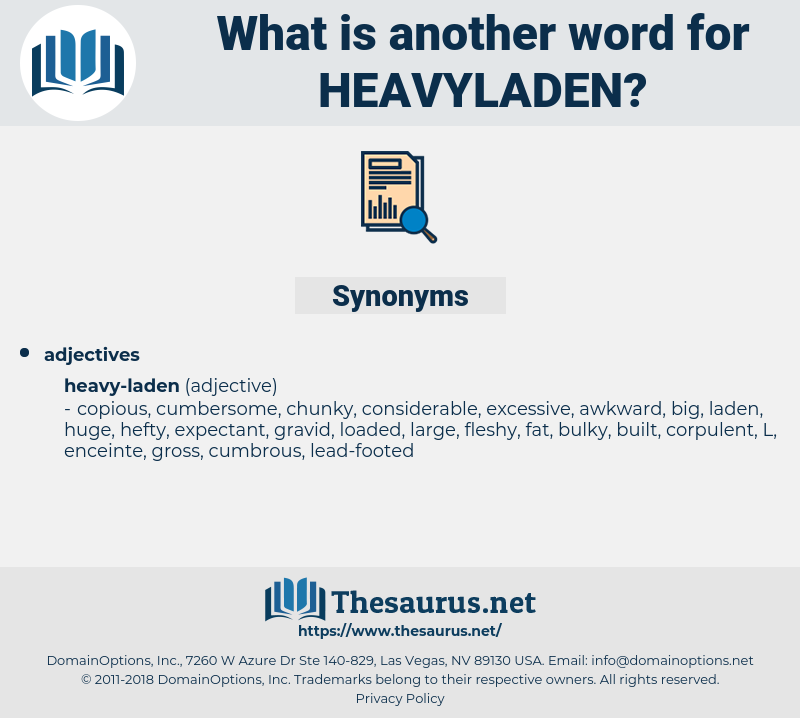 heavyladen, synonym heavyladen, another word for heavyladen, words like heavyladen, thesaurus heavyladen