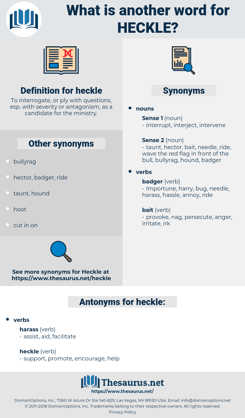 heckle, synonym heckle, another word for heckle, words like heckle, thesaurus heckle