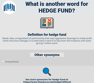 hedge fund, synonym hedge fund, another word for hedge fund, words like hedge fund, thesaurus hedge fund