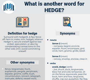 hedge, synonym hedge, another word for hedge, words like hedge, thesaurus hedge