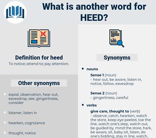 heed, synonym heed, another word for heed, words like heed, thesaurus heed
