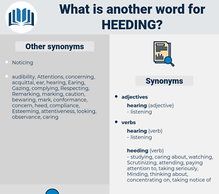Heeding, synonym Heeding, another word for Heeding, words like Heeding, thesaurus Heeding