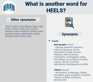 heels, synonym heels, another word for heels, words like heels, thesaurus heels