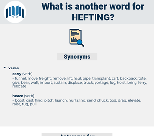 Hefting, synonym Hefting, another word for Hefting, words like Hefting, thesaurus Hefting