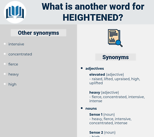 Heightened, synonym Heightened, another word for Heightened, words like Heightened, thesaurus Heightened