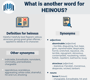 heinous, synonym heinous, another word for heinous, words like heinous, thesaurus heinous