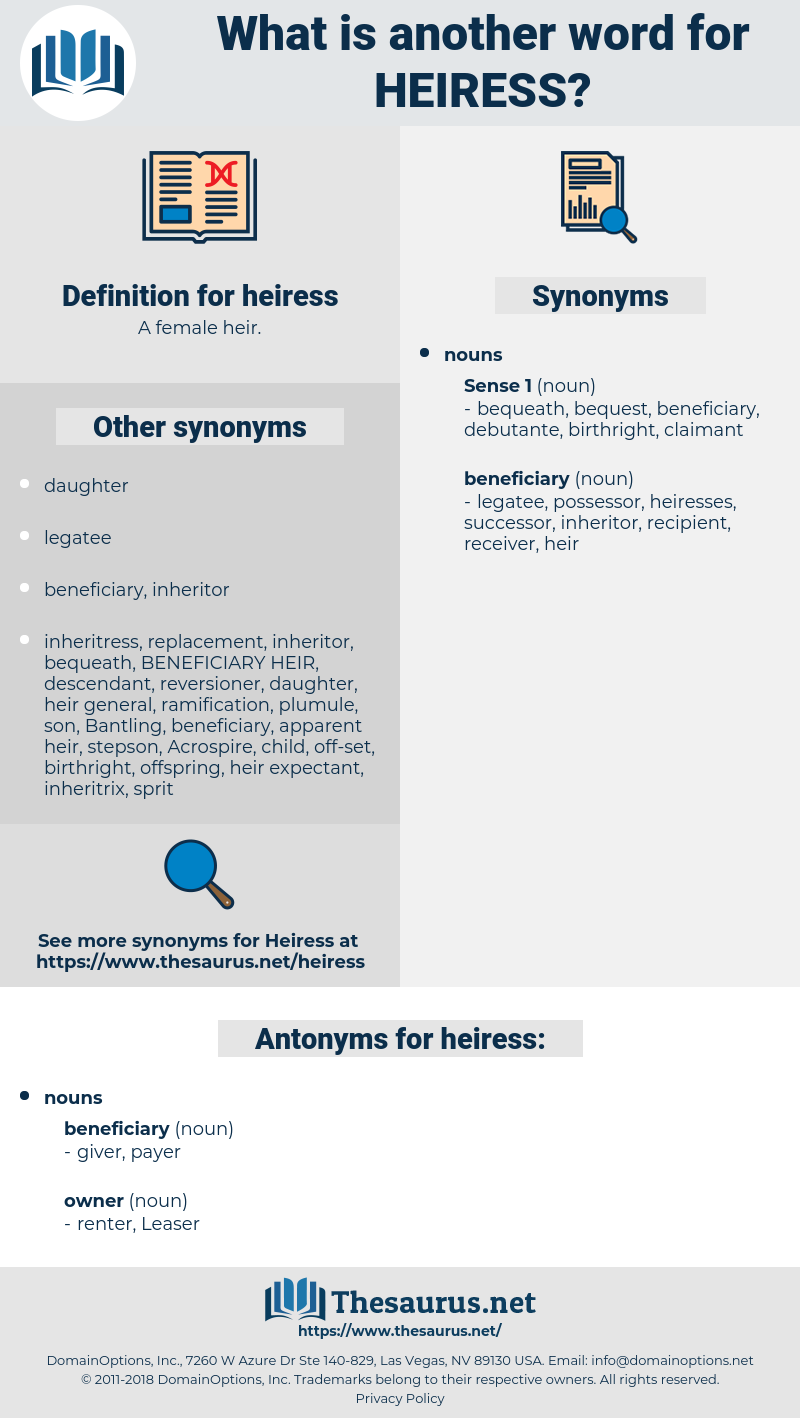 heiress, synonym heiress, another word for heiress, words like heiress, thesaurus heiress