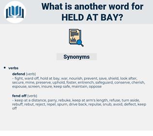 held at bay, synonym held at bay, another word for held at bay, words like held at bay, thesaurus held at bay