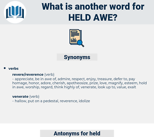 held awe, synonym held awe, another word for held awe, words like held awe, thesaurus held awe