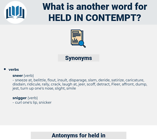 held in contempt, synonym held in contempt, another word for held in contempt, words like held in contempt, thesaurus held in contempt