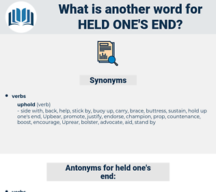 held one's end, synonym held one's end, another word for held one's end, words like held one's end, thesaurus held one's end