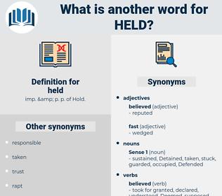 held, synonym held, another word for held, words like held, thesaurus held