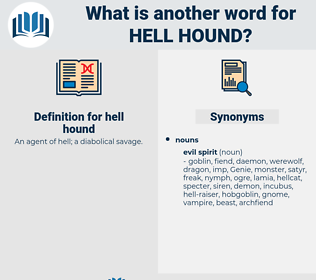 hell hound, synonym hell hound, another word for hell hound, words like hell hound, thesaurus hell hound