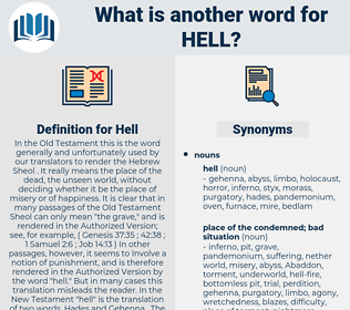 Hell, synonym Hell, another word for Hell, words like Hell, thesaurus Hell