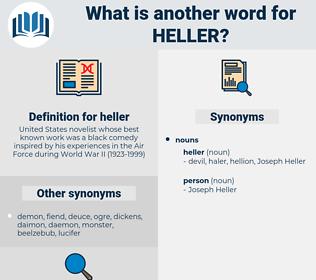heller, synonym heller, another word for heller, words like heller, thesaurus heller