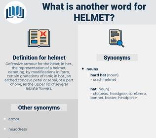 helmet, synonym helmet, another word for helmet, words like helmet, thesaurus helmet