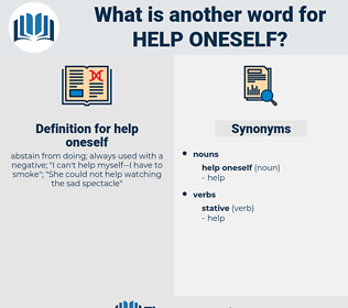 help oneself, synonym help oneself, another word for help oneself, words like help oneself, thesaurus help oneself