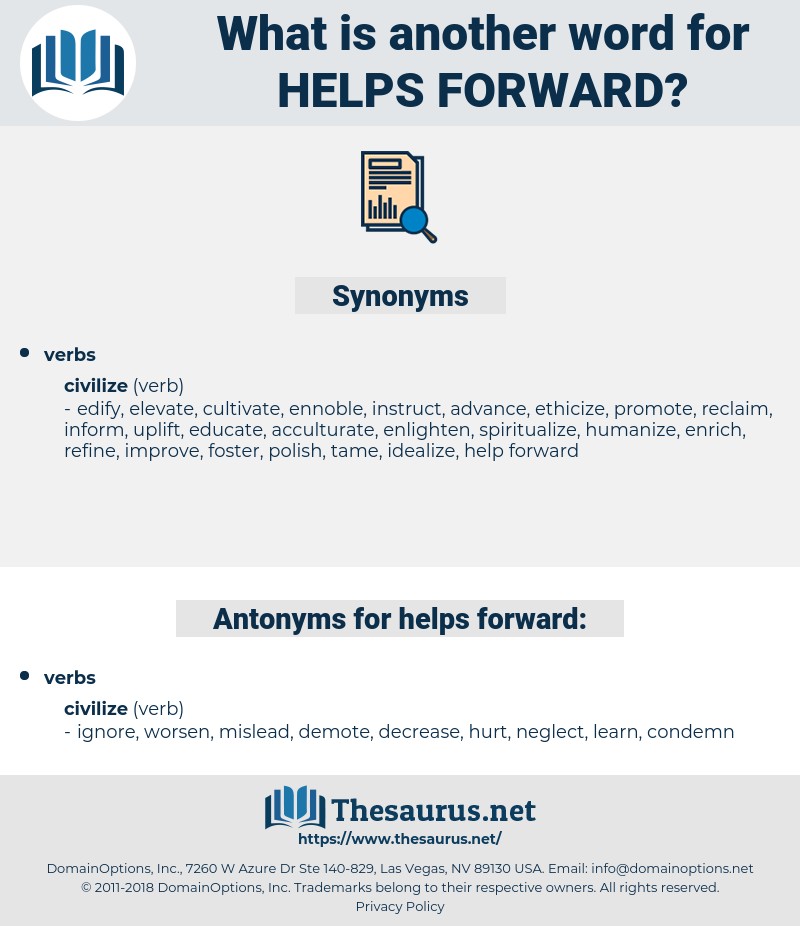 helps forward, synonym helps forward, another word for helps forward, words like helps forward, thesaurus helps forward