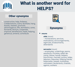 helps, synonym helps, another word for helps, words like helps, thesaurus helps