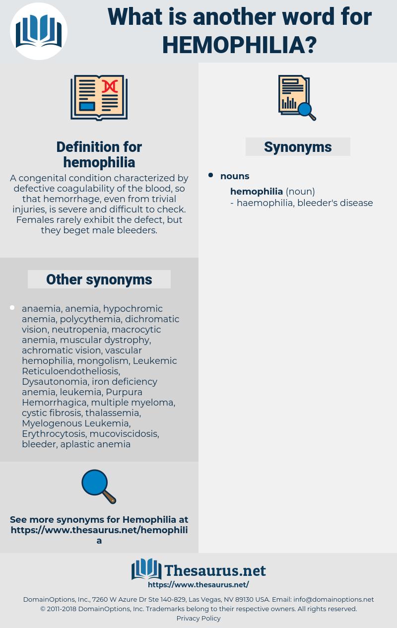 hemophilia, synonym hemophilia, another word for hemophilia, words like hemophilia, thesaurus hemophilia