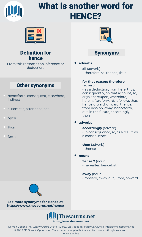 hence, synonym hence, another word for hence, words like hence, thesaurus hence