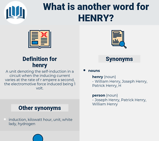 henry, synonym henry, another word for henry, words like henry, thesaurus henry
