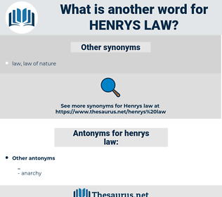 henrys law, synonym henrys law, another word for henrys law, words like henrys law, thesaurus henrys law
