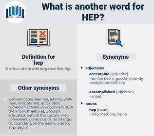 hep, synonym hep, another word for hep, words like hep, thesaurus hep