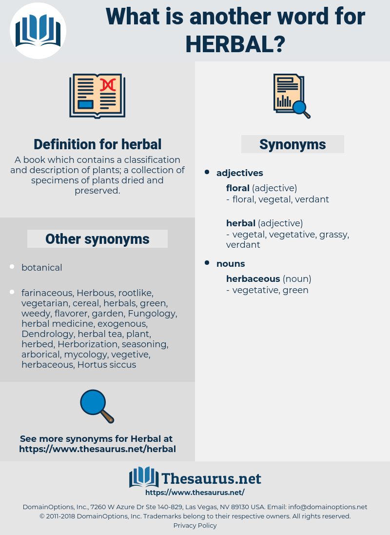 herbal, synonym herbal, another word for herbal, words like herbal, thesaurus herbal