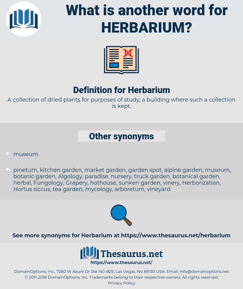 Herbarium, synonym Herbarium, another word for Herbarium, words like Herbarium, thesaurus Herbarium