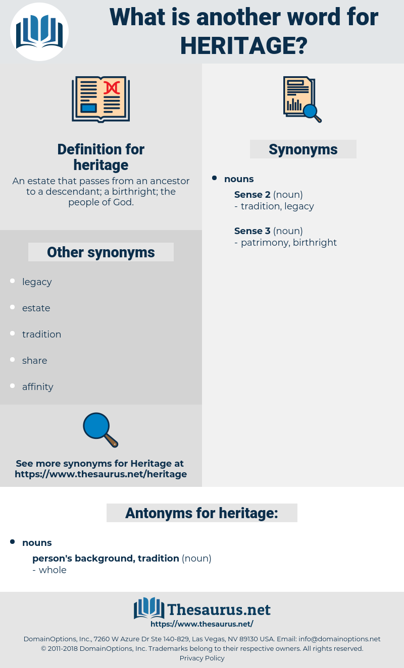 heritage, synonym heritage, another word for heritage, words like heritage, thesaurus heritage