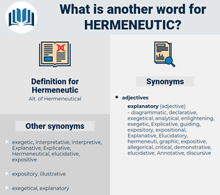 Hermeneutic, synonym Hermeneutic, another word for Hermeneutic, words like Hermeneutic, thesaurus Hermeneutic