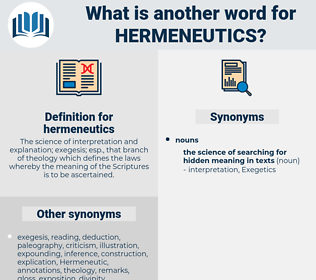 hermeneutics, synonym hermeneutics, another word for hermeneutics, words like hermeneutics, thesaurus hermeneutics