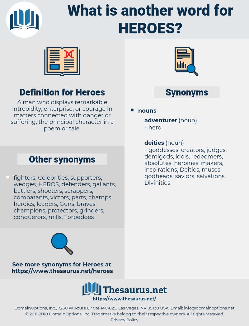 Heroes, synonym Heroes, another word for Heroes, words like Heroes, thesaurus Heroes