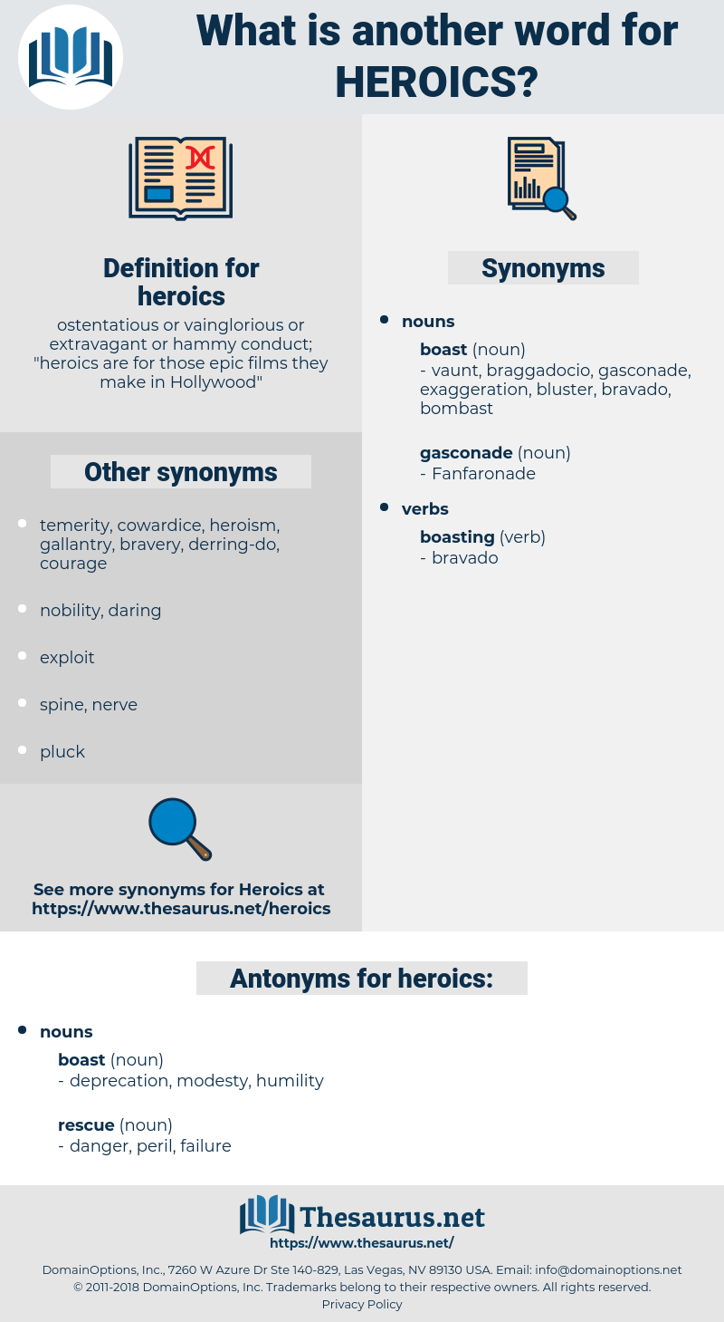 heroics, synonym heroics, another word for heroics, words like heroics, thesaurus heroics