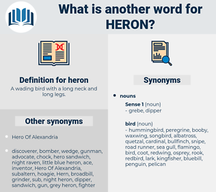 heron, synonym heron, another word for heron, words like heron, thesaurus heron