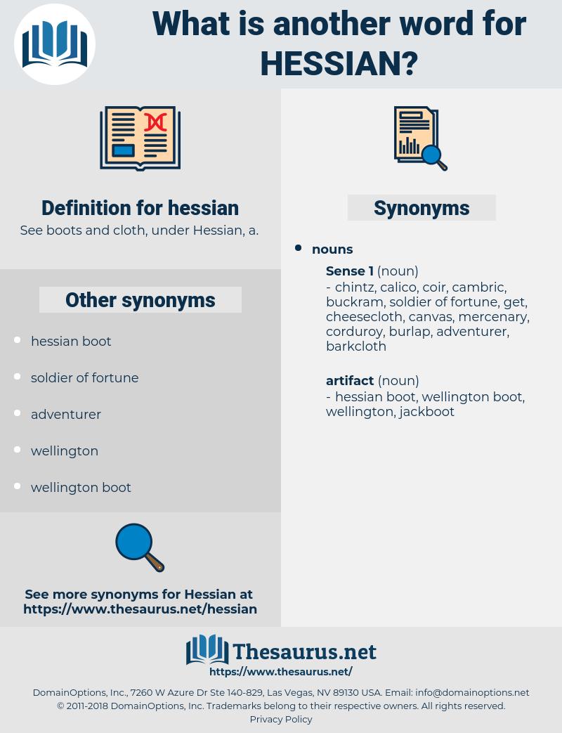 hessian, synonym hessian, another word for hessian, words like hessian, thesaurus hessian