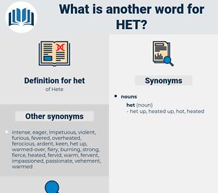 het, synonym het, another word for het, words like het, thesaurus het