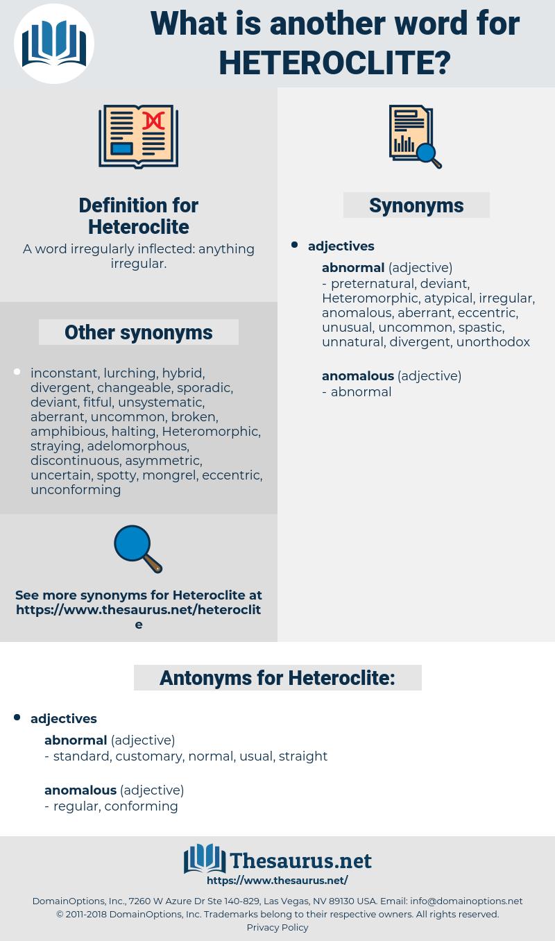 Heteroclite, synonym Heteroclite, another word for Heteroclite, words like Heteroclite, thesaurus Heteroclite