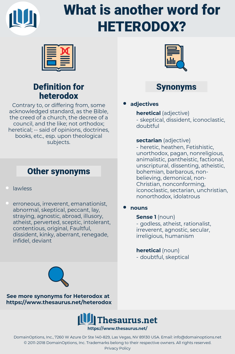 heterodox, synonym heterodox, another word for heterodox, words like heterodox, thesaurus heterodox