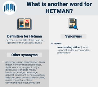 Hetman, synonym Hetman, another word for Hetman, words like Hetman, thesaurus Hetman