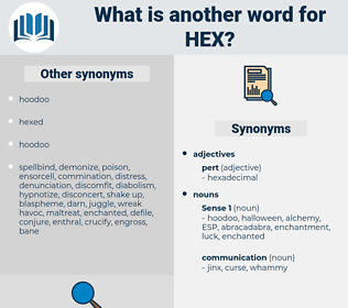 hex, synonym hex, another word for hex, words like hex, thesaurus hex