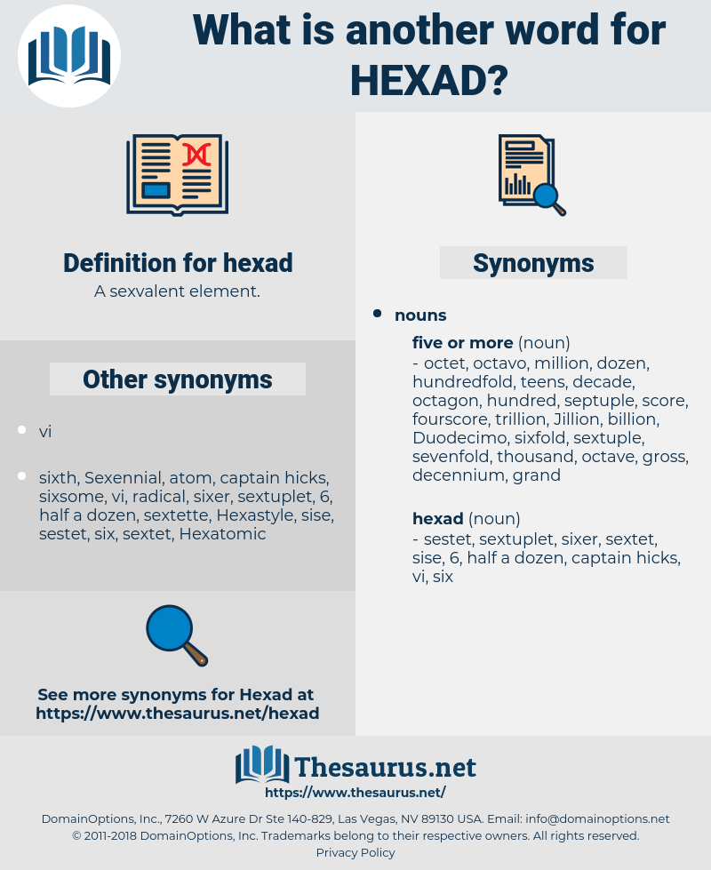 hexad, synonym hexad, another word for hexad, words like hexad, thesaurus hexad